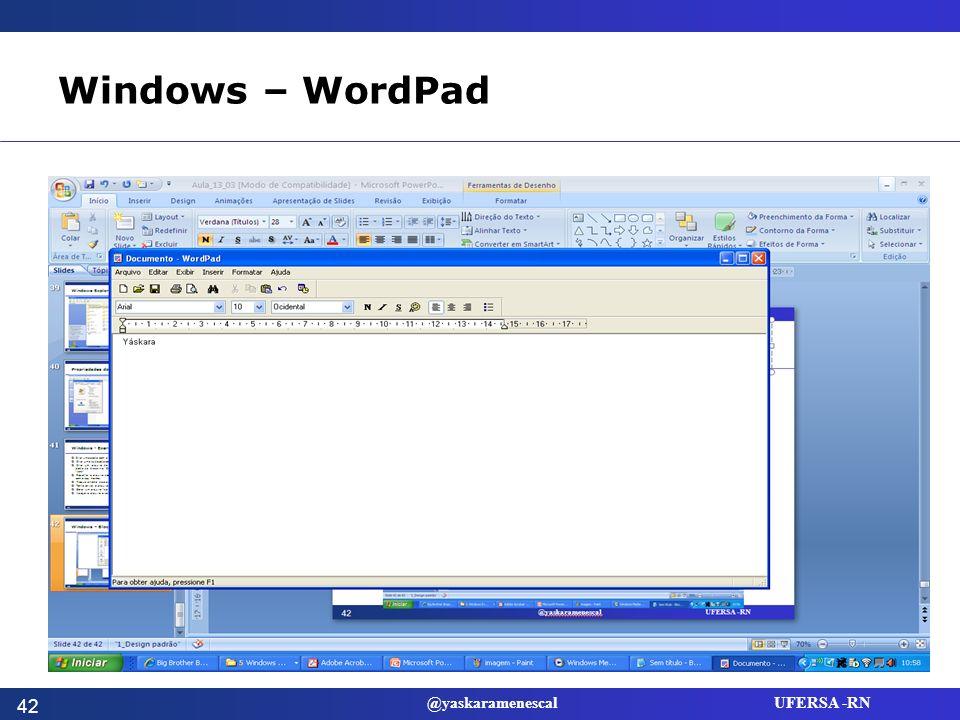 Windows – WordPad