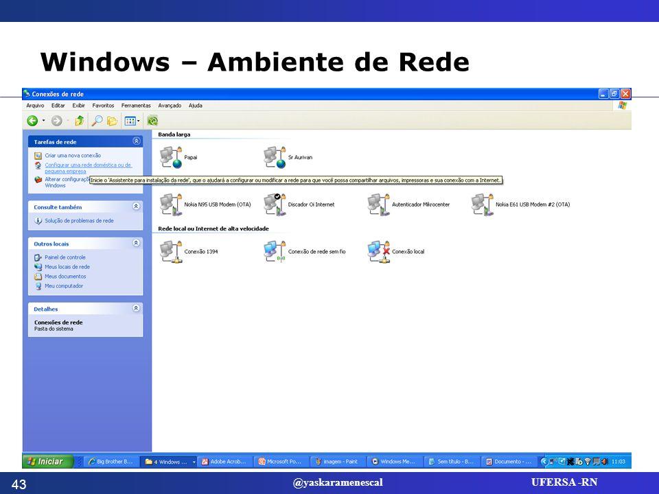 Windows – Ambiente de Rede