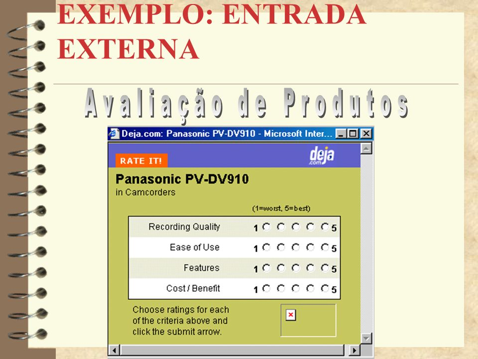 EXEMPLO: ENTRADA EXTERNA