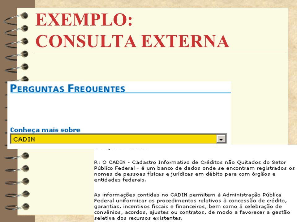 EXEMPLO: CONSULTA EXTERNA