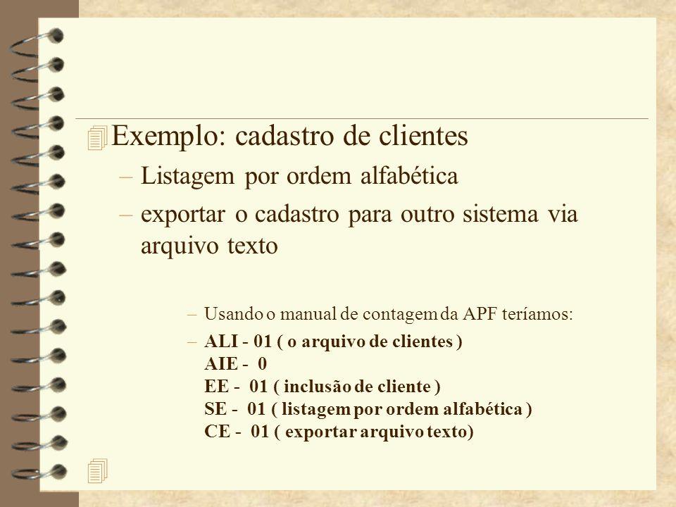 Exemplo: cadastro de clientes