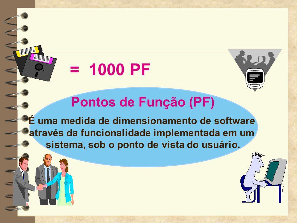 = 1000 PF Pontos de Função (PF)