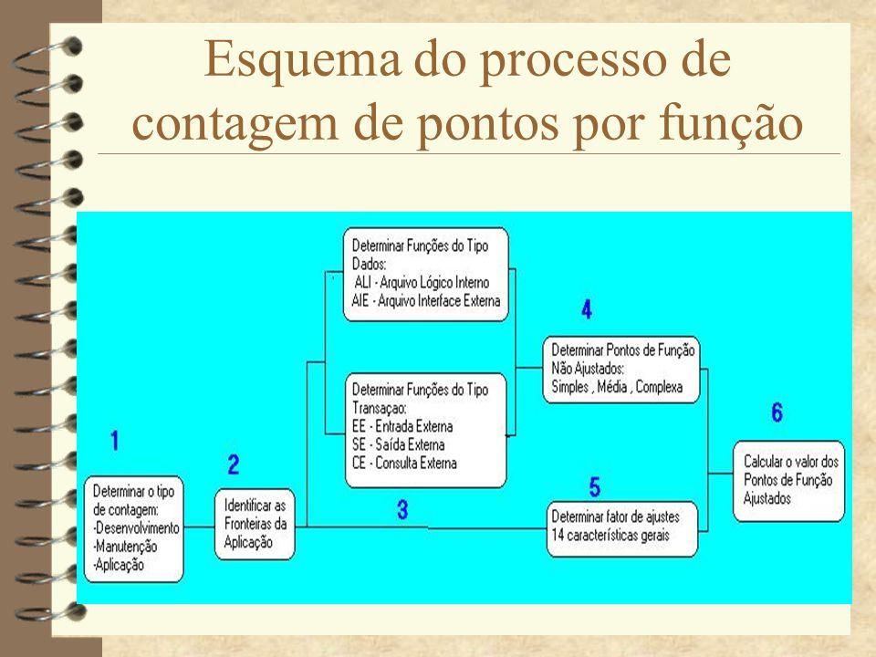 Esquema do processo de contagem de pontos por função