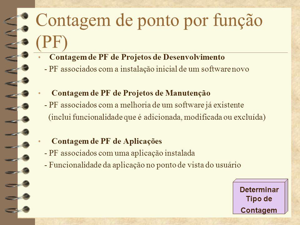 Contagem de ponto por função (PF)