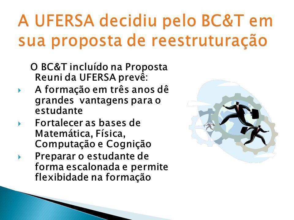 A UFERSA decidiu pelo BC&T em sua proposta de reestruturação