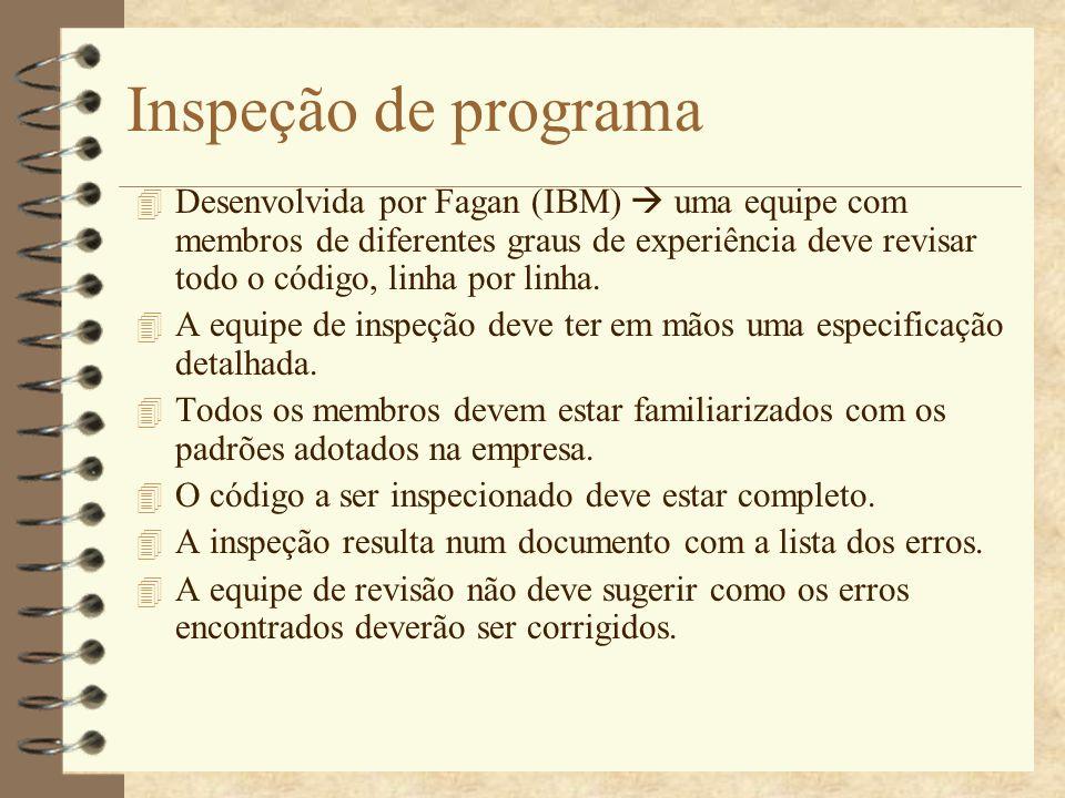 Inspeção de programa