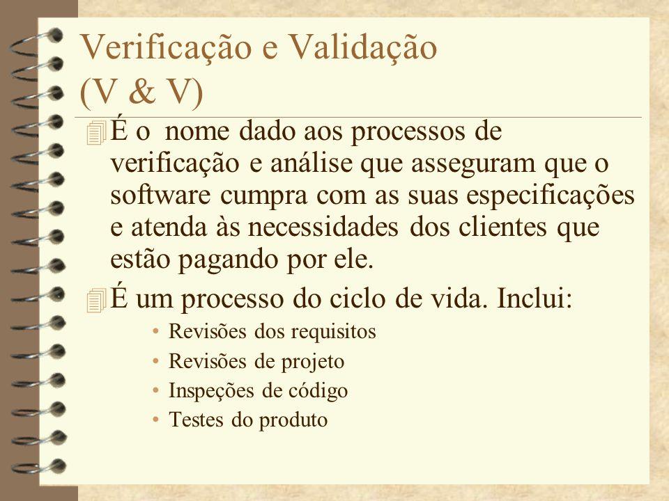 Verificação e Validação (V & V)