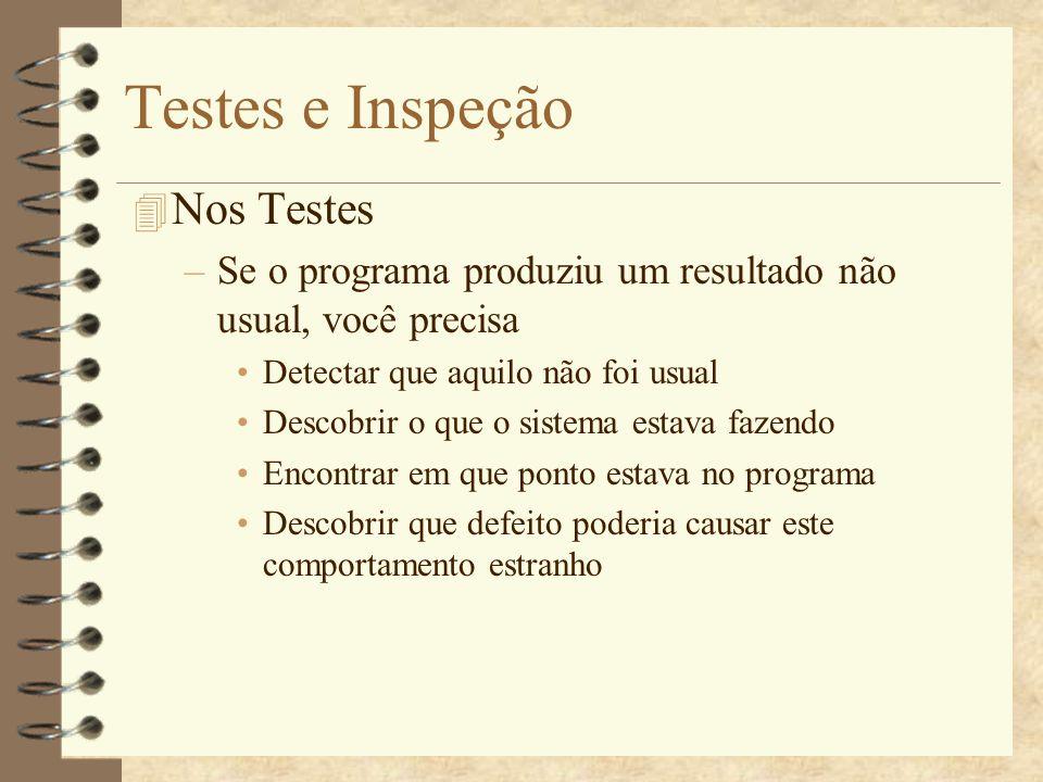 Testes e Inspeção Nos Testes