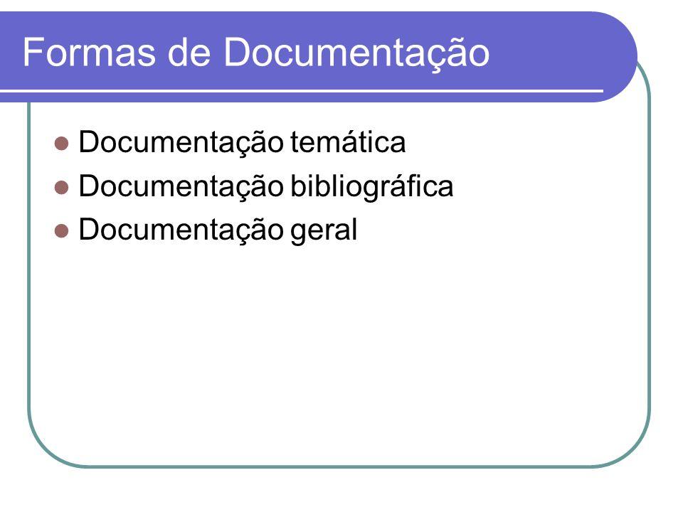 Formas de Documentação