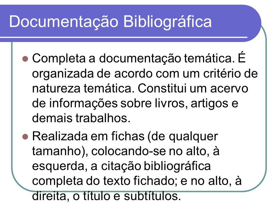 Documentação Bibliográfica