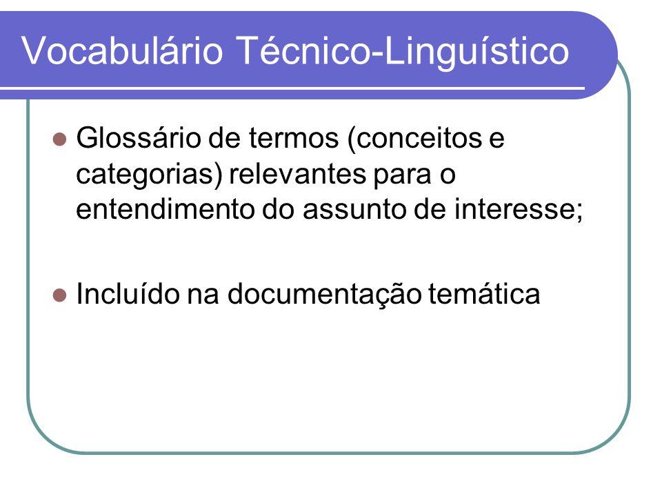 Vocabulário Técnico-Linguístico