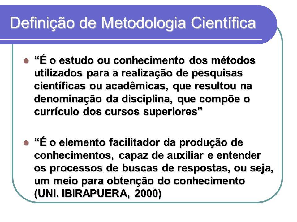 Definição de Metodologia Científica