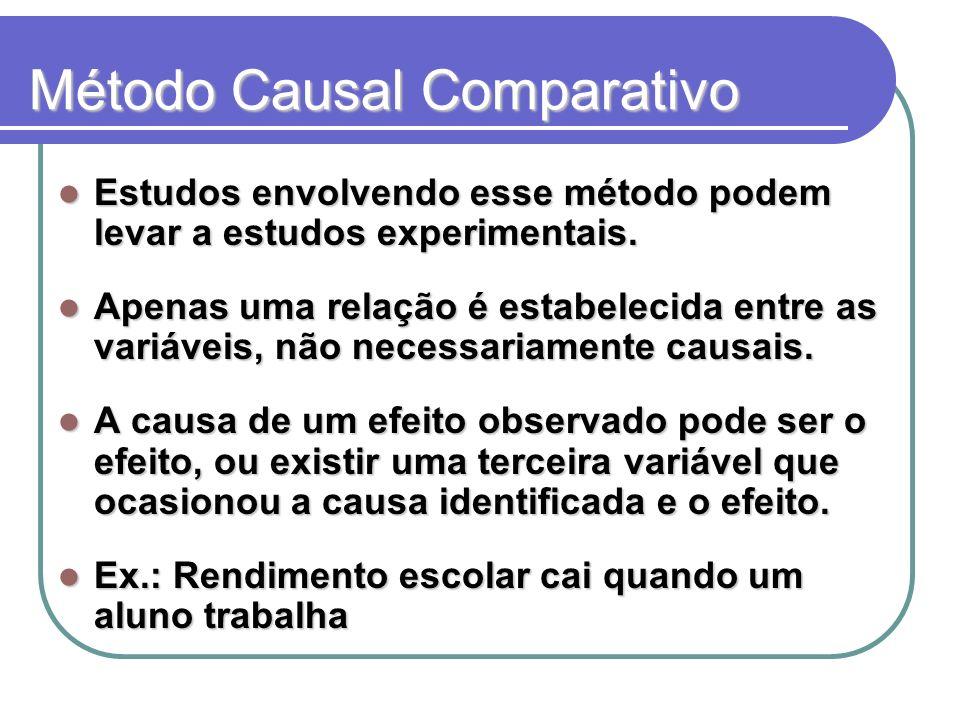 Método Causal Comparativo