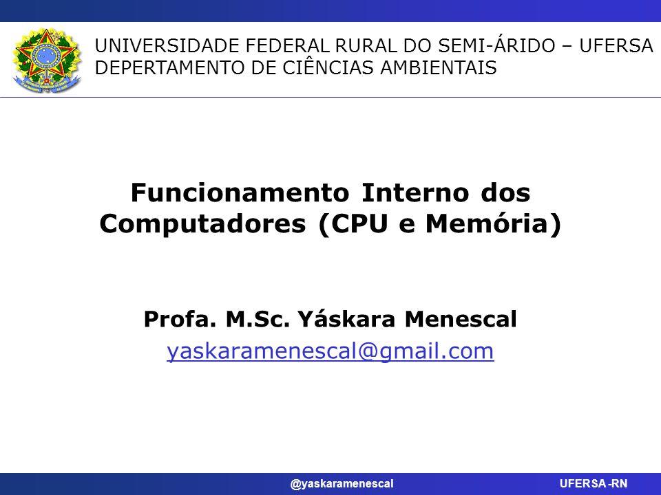 Funcionamento Interno dos Computadores (CPU e Memória)