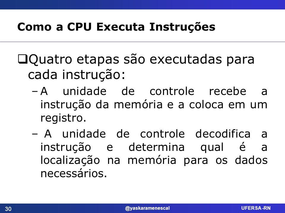 Como a CPU Executa Instruções