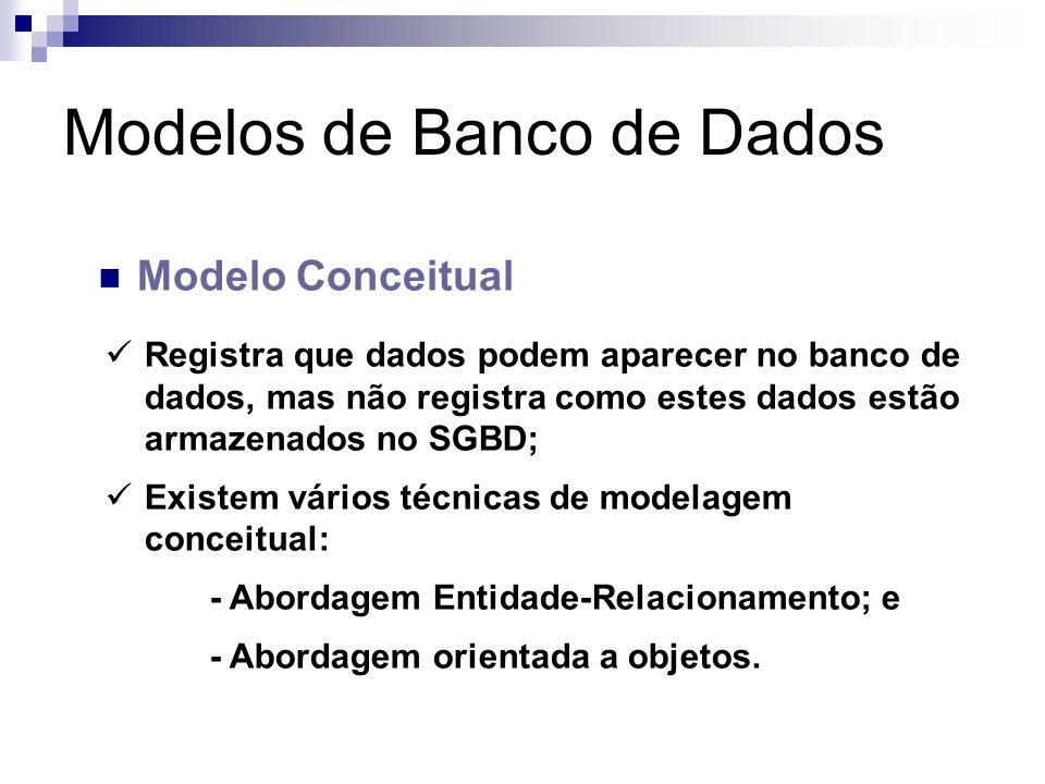 Modelos de Banco de Dados