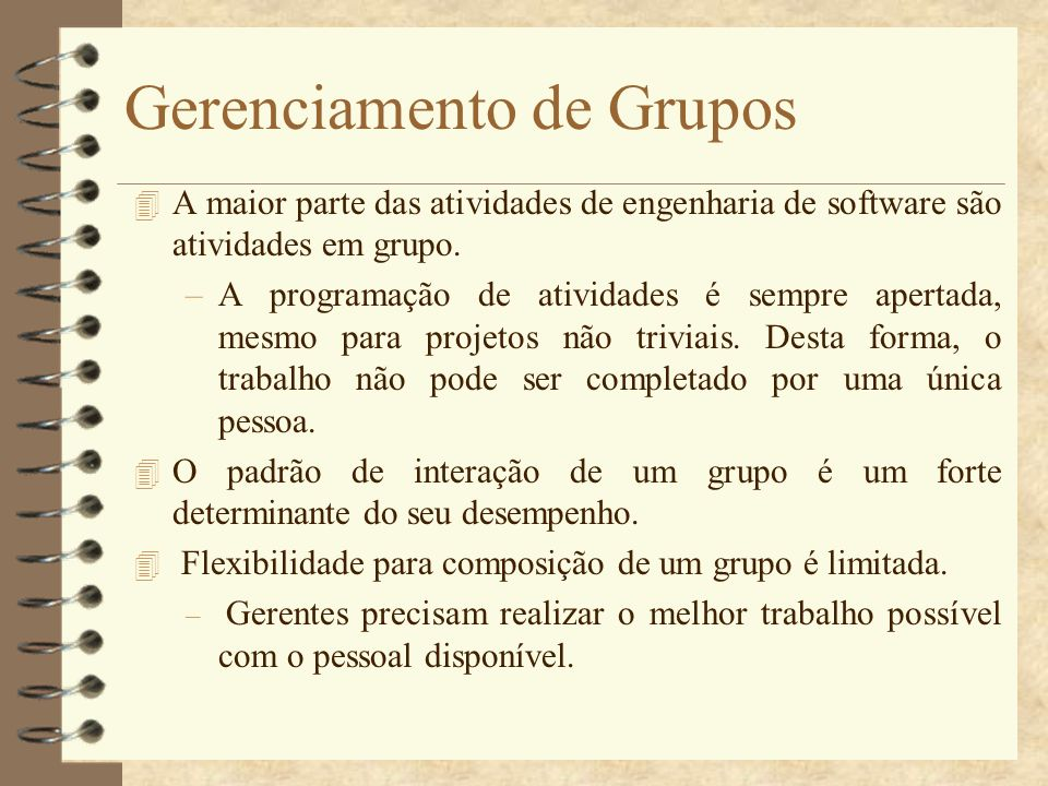 Gerenciamento de Grupos