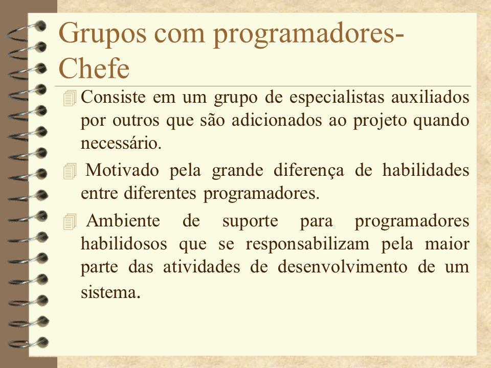Grupos com programadores- Chefe