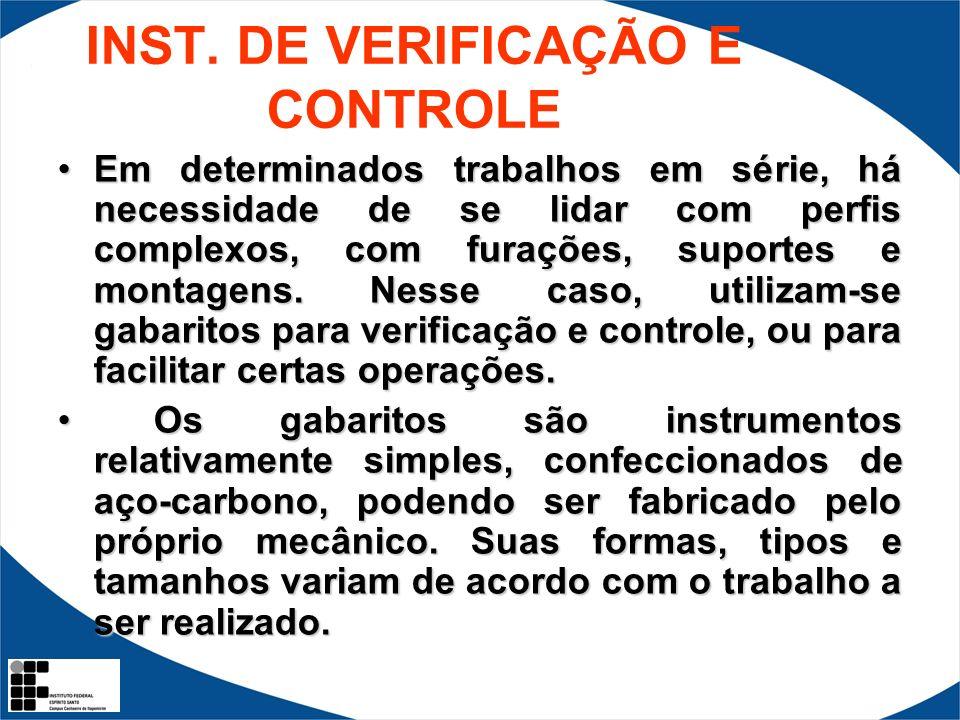 INST. DE VERIFICAÇÃO E CONTROLE