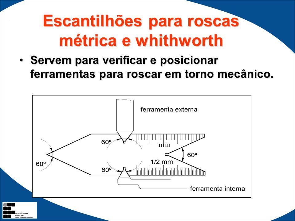 Escantilhões para roscas métrica e whithworth