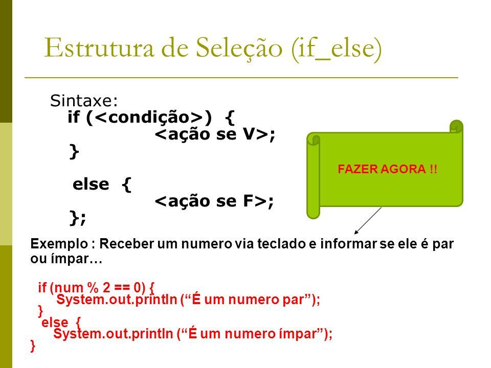Estrutura de Seleção (if_else)