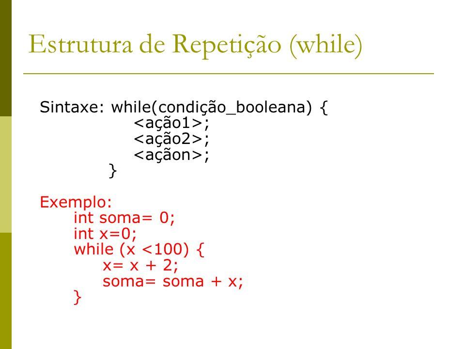 Estrutura de Repetição (while)