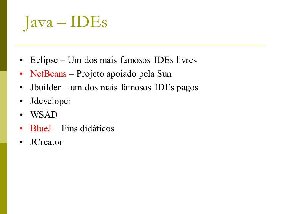Java – IDEs Eclipse – Um dos mais famosos IDEs livres