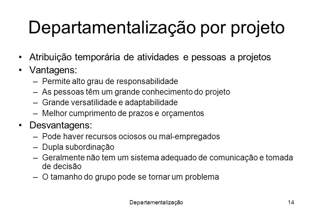 Departamentalização por projeto