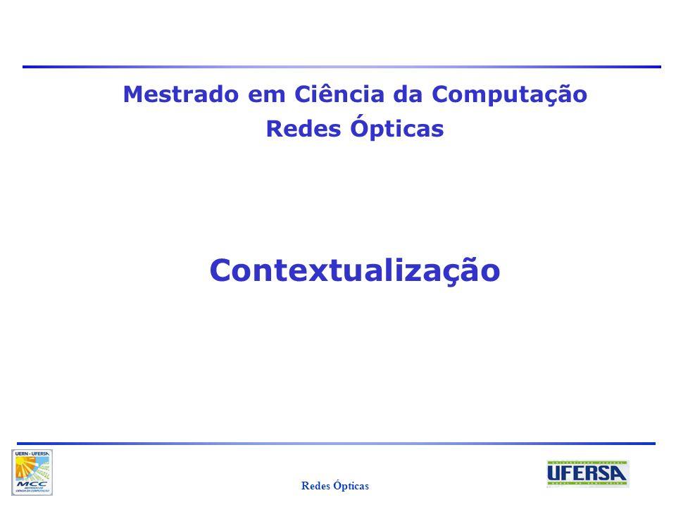 Mestrado em Ciência da Computação Redes Ópticas Contextualização