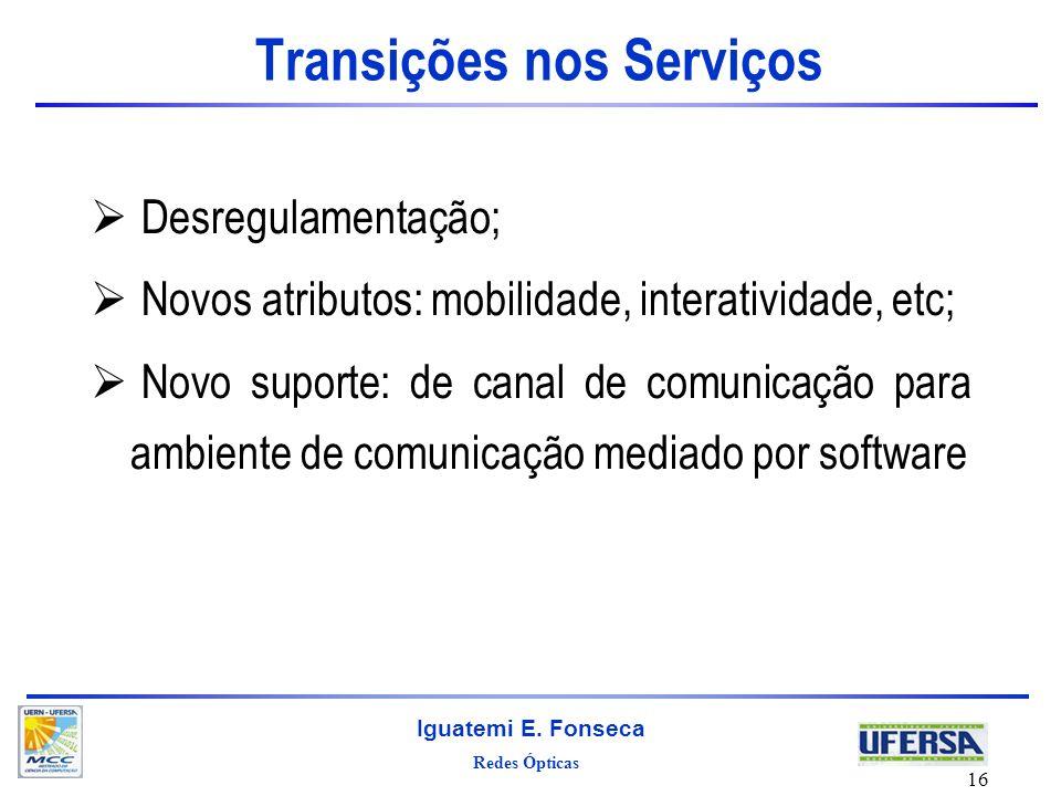 Transições nos Serviços