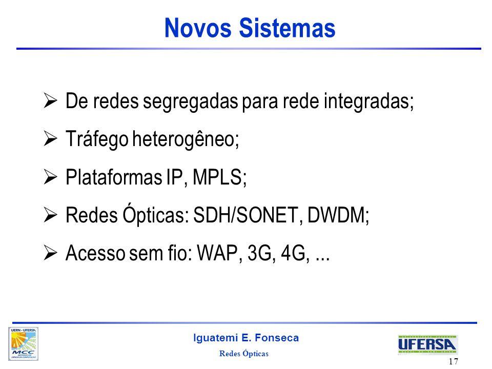Novos Sistemas De redes segregadas para rede integradas;