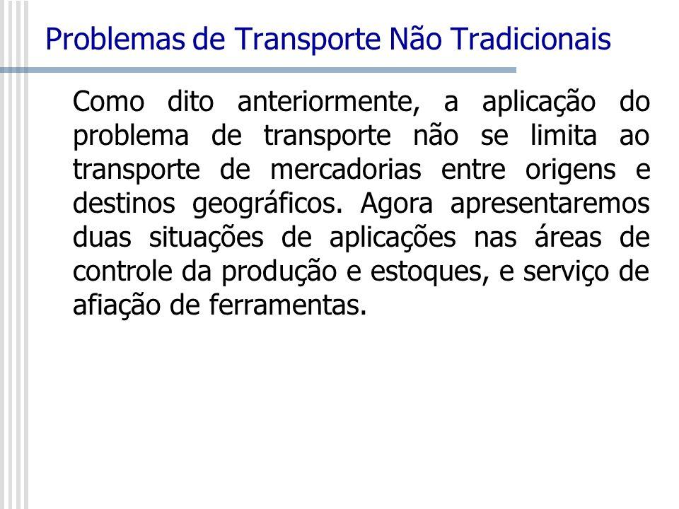 Problemas de Transporte Não Tradicionais