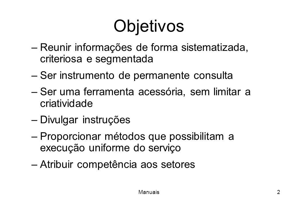 Objetivos Reunir informações de forma sistematizada, criteriosa e segmentada. Ser instrumento de permanente consulta.