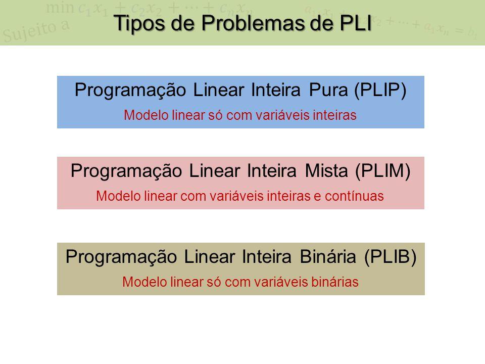 Tipos de Problemas de PLI