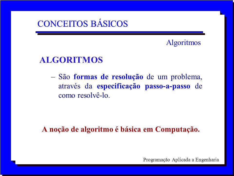 A noção de algoritmo é básica em Computação.