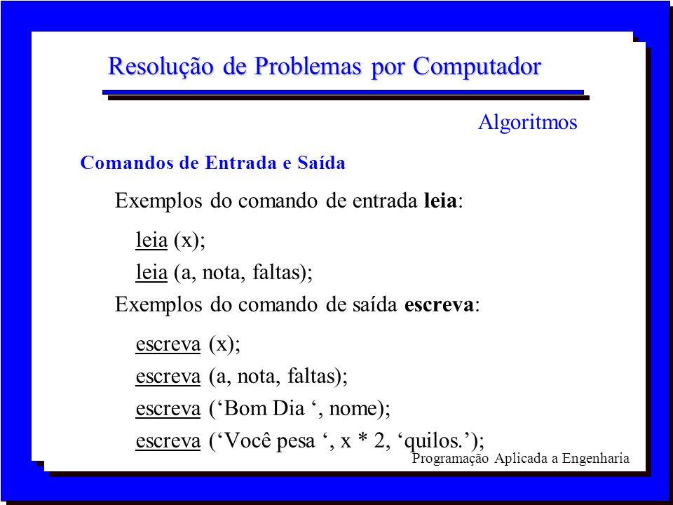 Resolução de Problemas por Computador