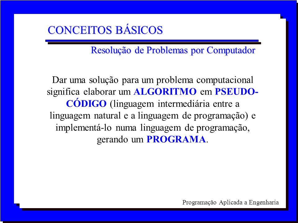 CONCEITOS BÁSICOS Resolução de Problemas por Computador