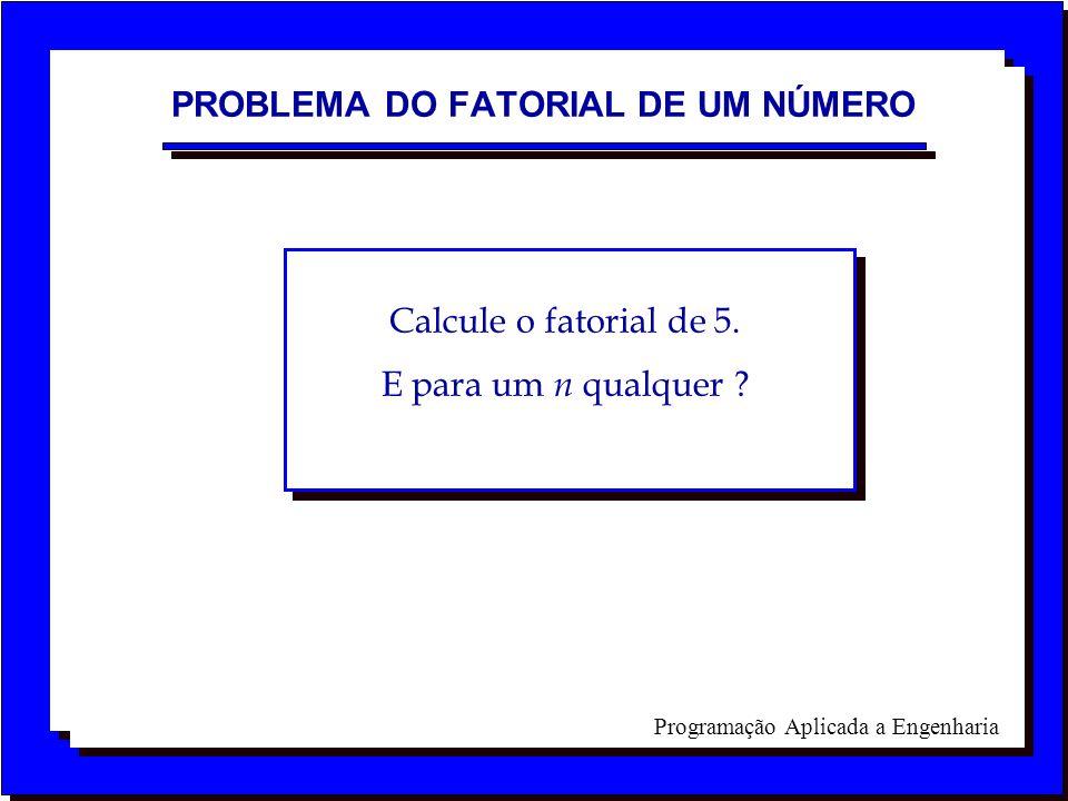 PROBLEMA DO FATORIAL DE UM NÚMERO