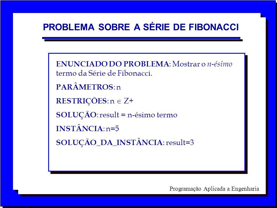 PROBLEMA SOBRE A SÉRIE DE FIBONACCI
