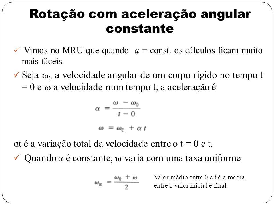 Rotação com aceleração angular constante