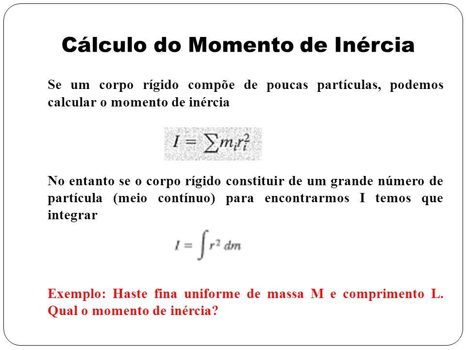 Cálculo do Momento de Inércia