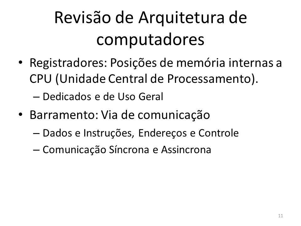 Revisão de Arquitetura de computadores