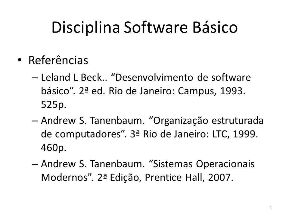 Disciplina Software Básico