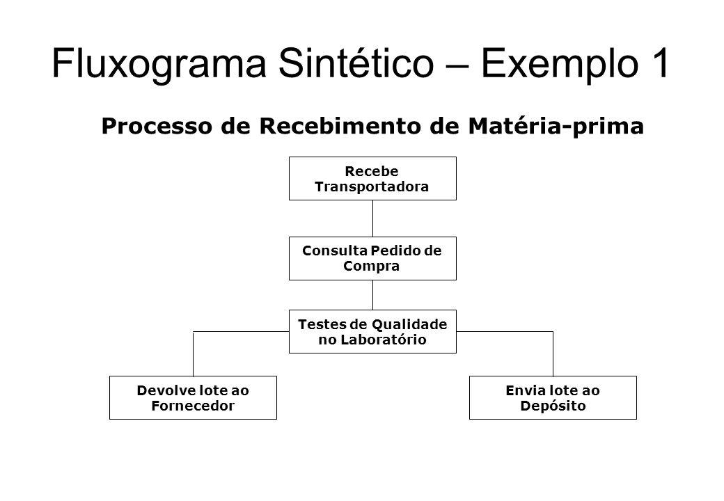 Fluxograma Sintético – Exemplo 1