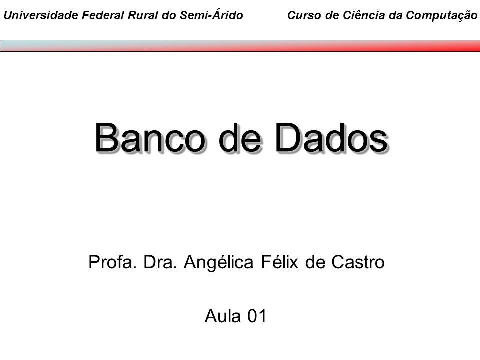 Profa. Dra. Angélica Félix de Castro Aula 01