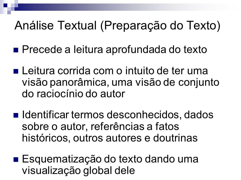 Análise Textual (Preparação do Texto)