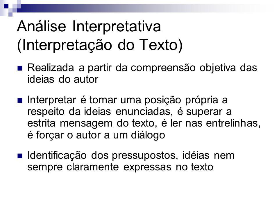 Análise Interpretativa (Interpretação do Texto)