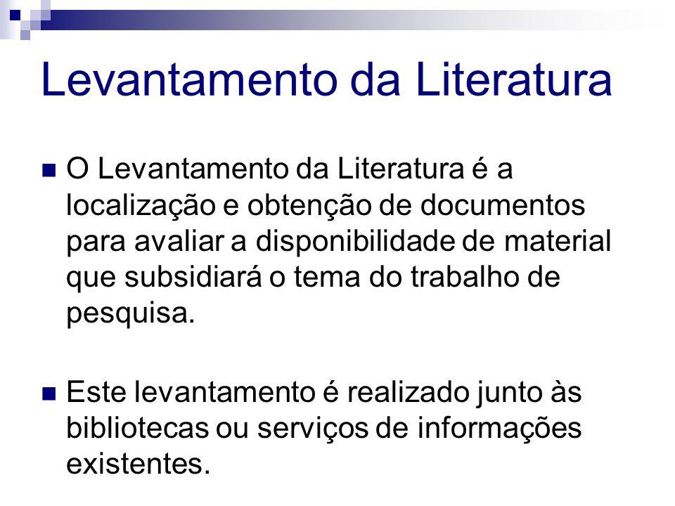 Levantamento da Literatura