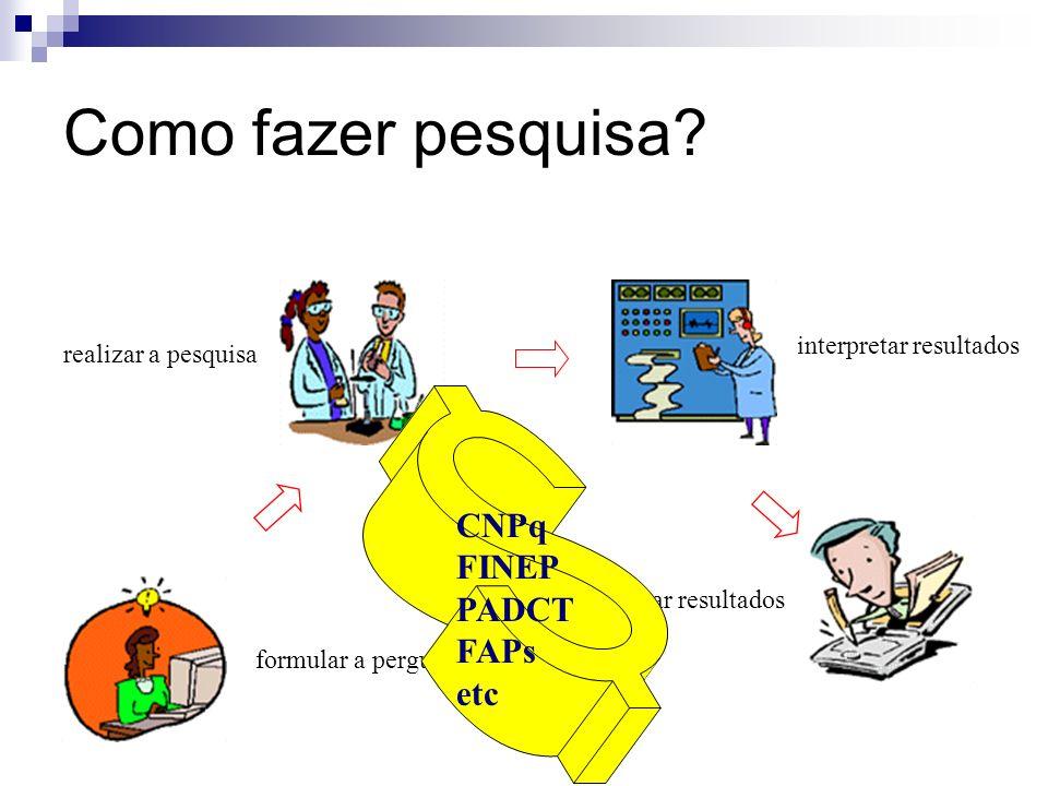 Como fazer pesquisa CNPq FINEP PADCT FAPs etc interpretar resultados