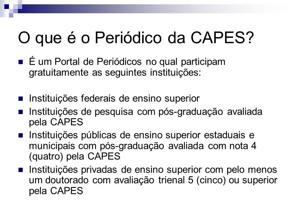 O que é o Periódico da CAPES